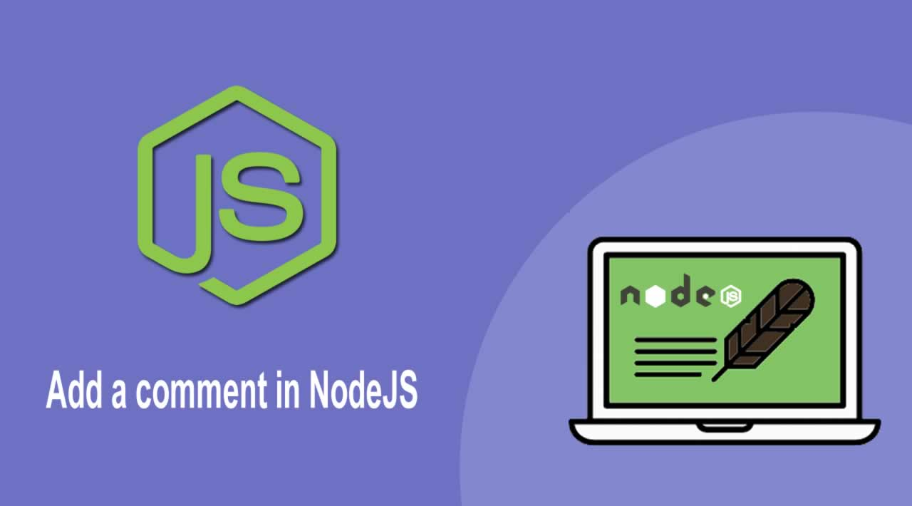 Tutorial - Add a comment in NodeJS