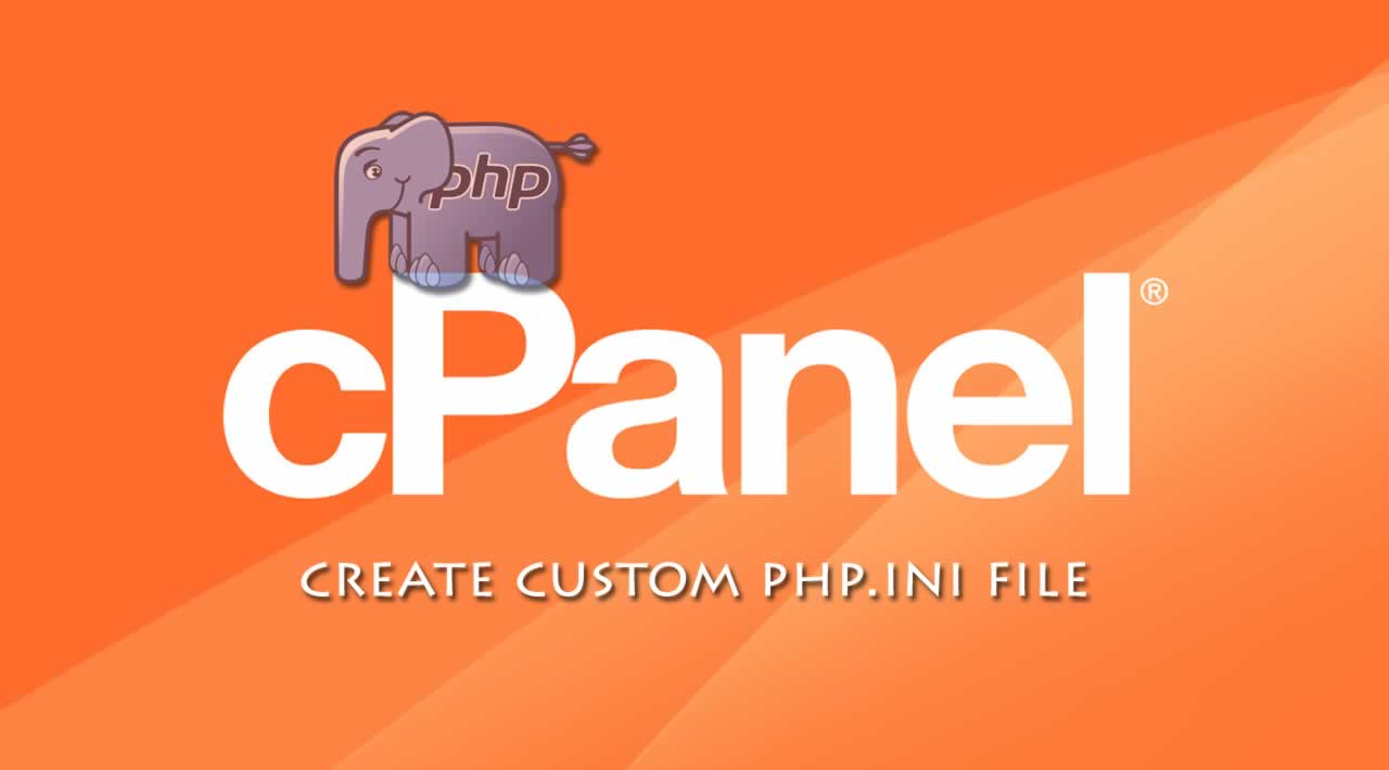 How to create custom php.ini file in CPanel?