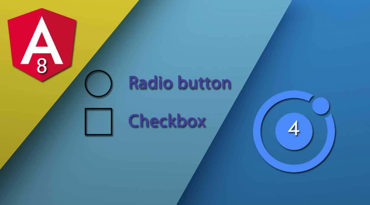 How to use the Ionic 4 radio button and checkbox in Angular 8 FormArray