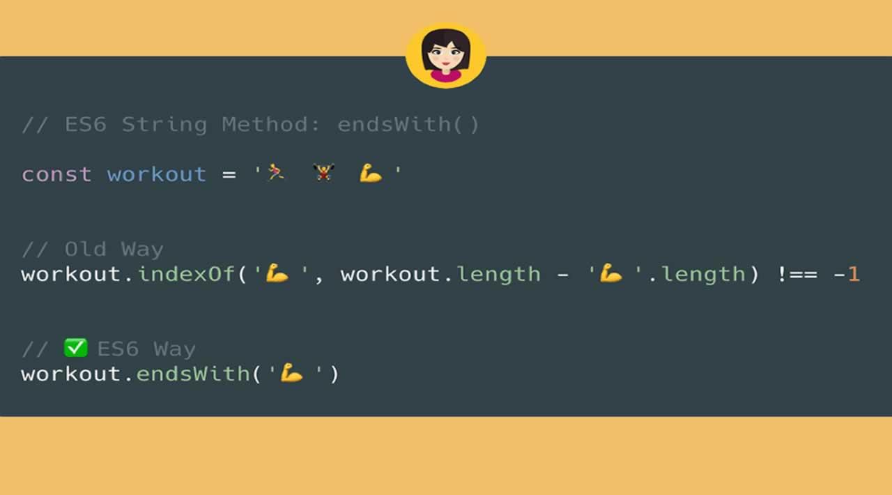 String endsWith() Method in JavaScript
