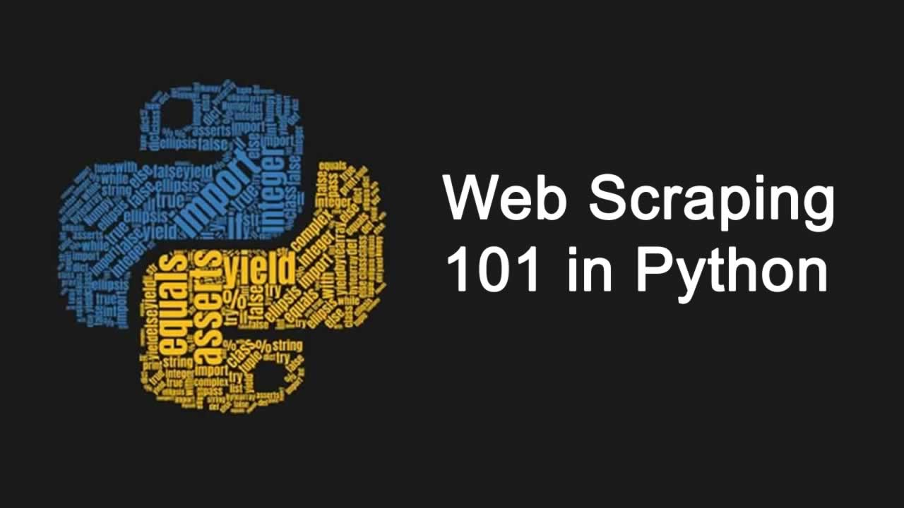 Web Scraping 101 in Python