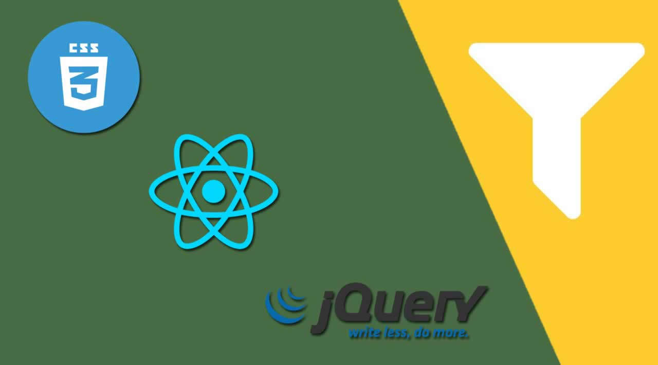 CSS vs jQuery vs React: A Comparison of Filtering Data Client-Side