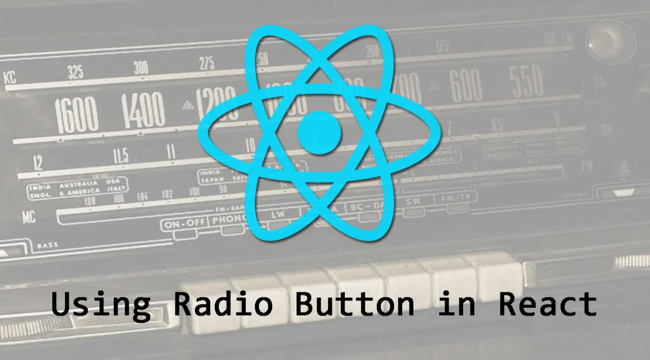 Using Radio Button in React