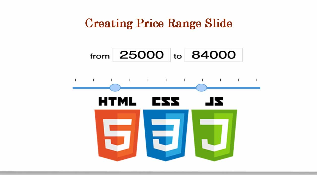 Creating Price Range Slider using JavaScript, HTML and CSS