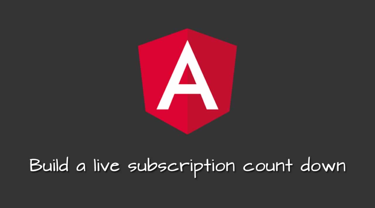Build a live subscription count down with Angular