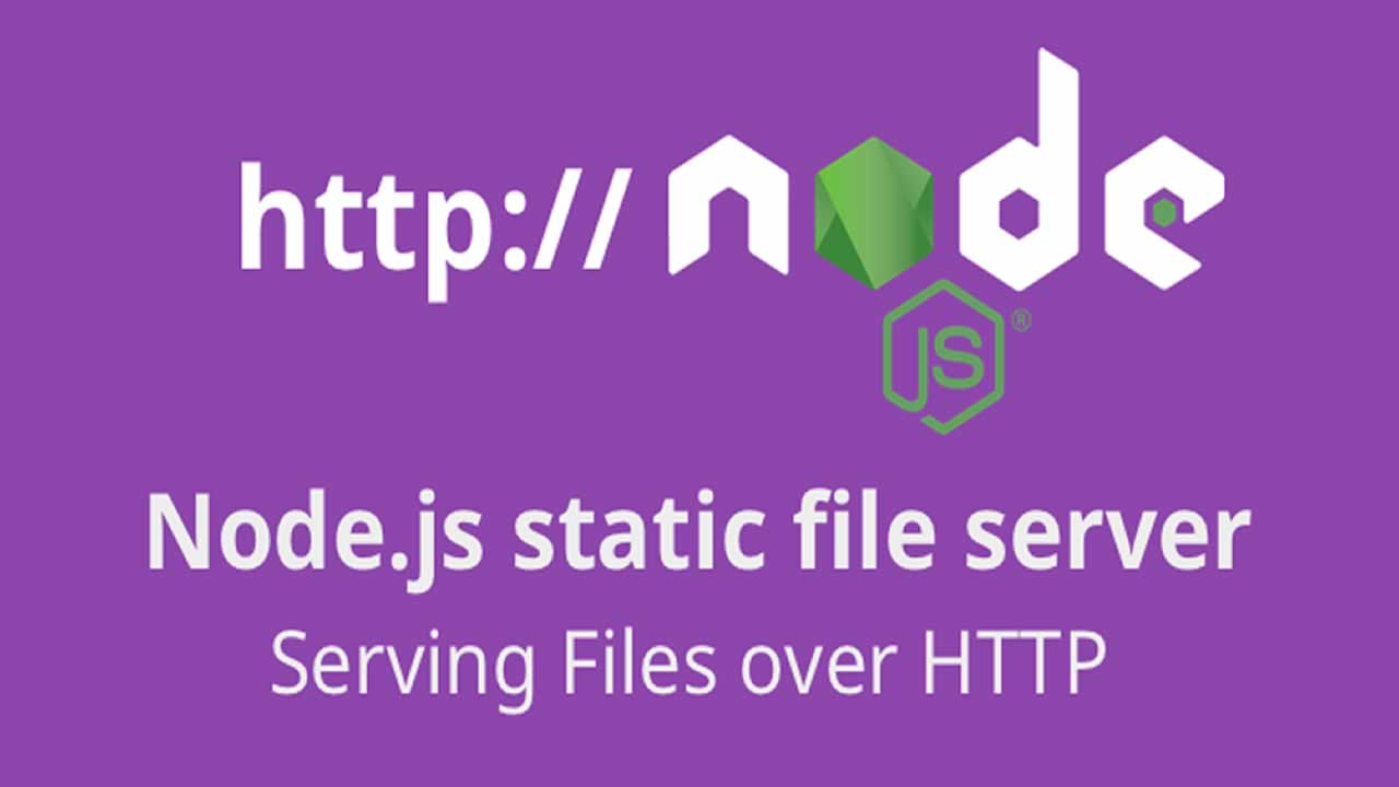 Building a Node.js static file server (files over HTTP) using ES6+