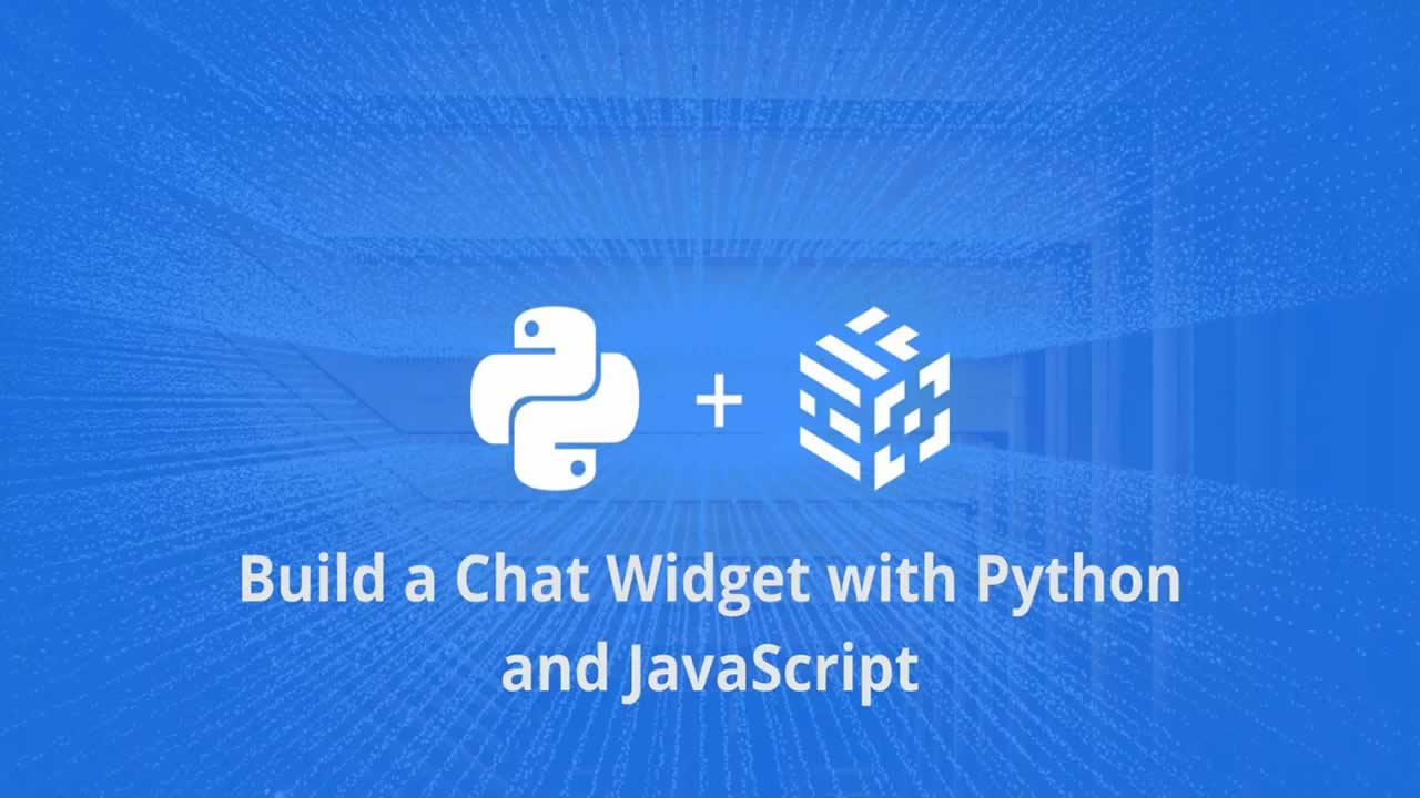 Build a chat widget with Python and JavaScript