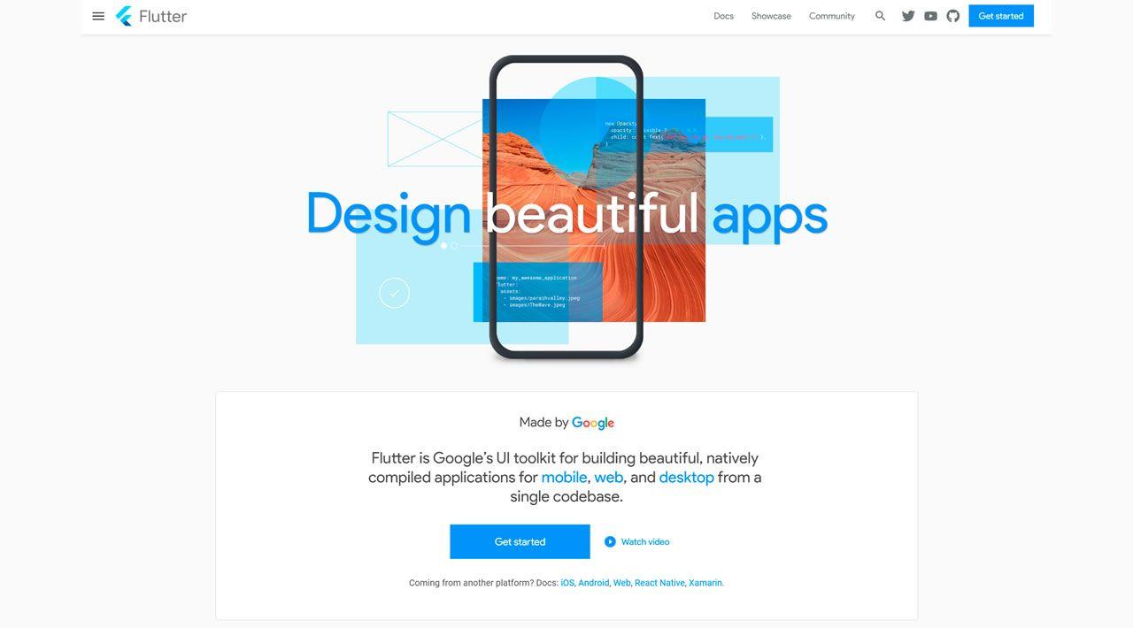 The flutter.dev website, recreated in Flutter!