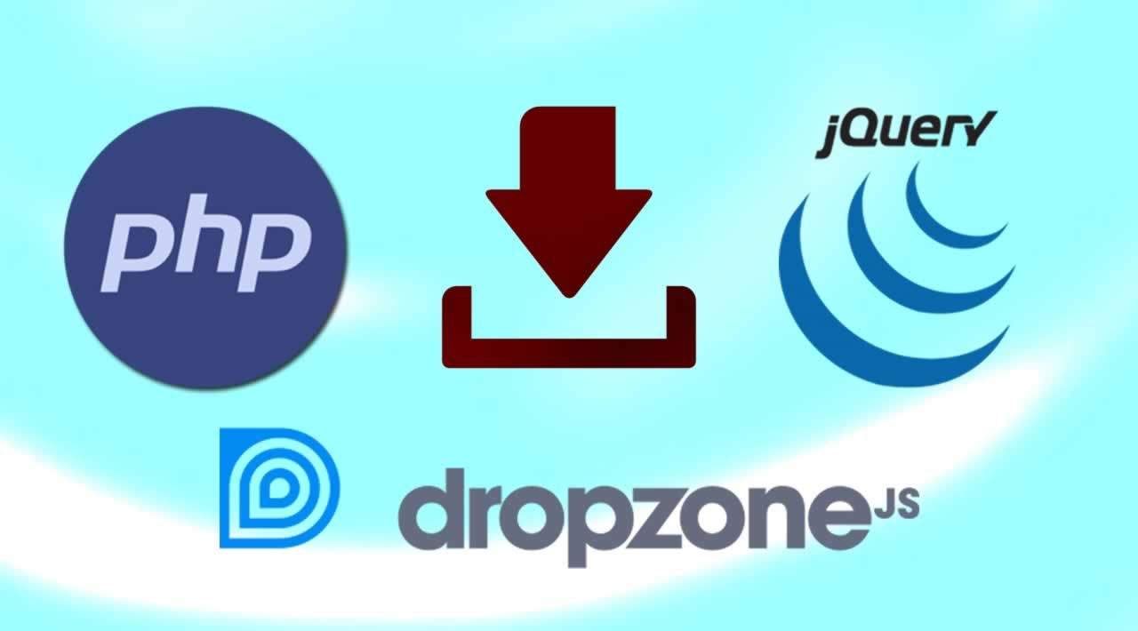 How to add Download Link in Dropzone with PHP and jQuery