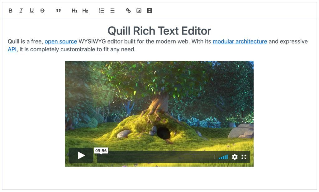 Quill Rich Text Editor component for Vue.js