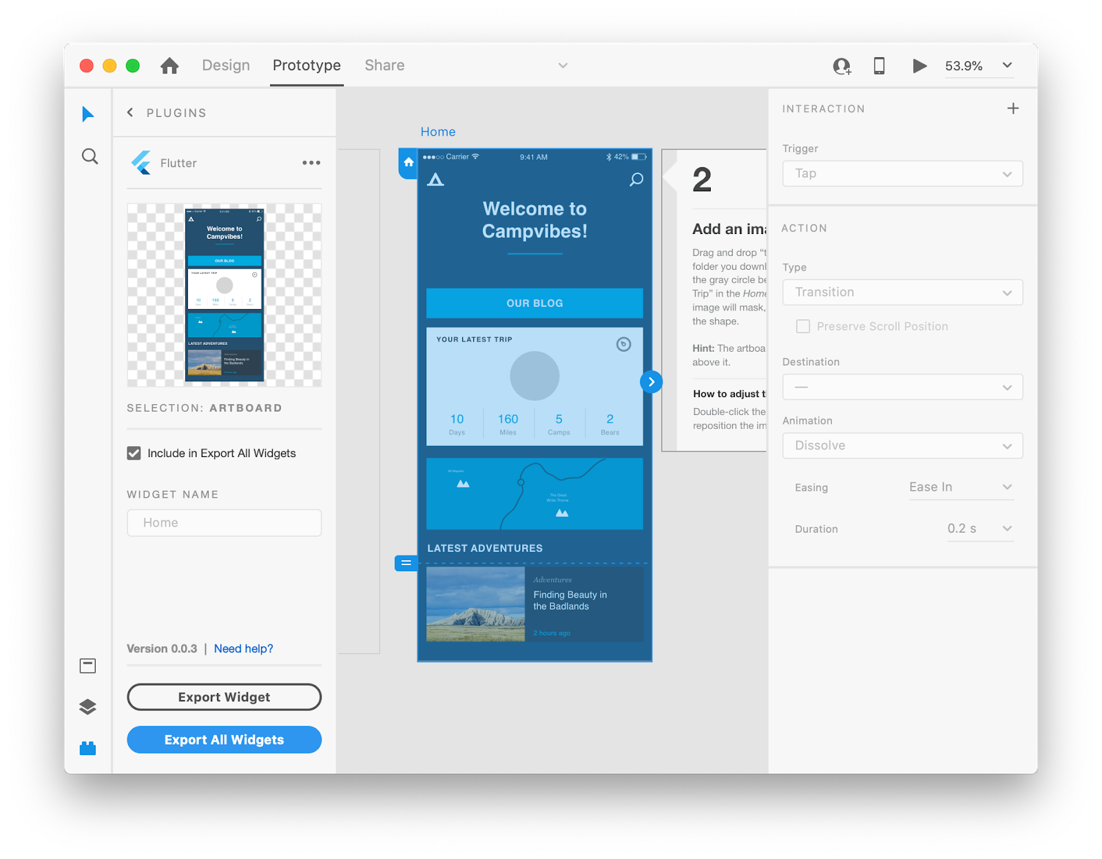 Adobe XD support for Flutter. Create in XD and export to Flutter code