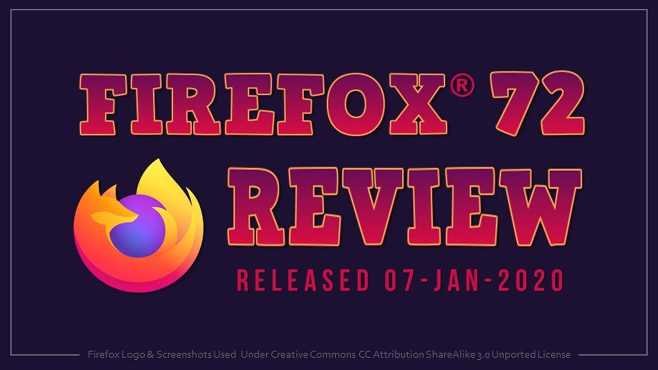 Firefox 72 — our first song of 2020 the Web developer blog