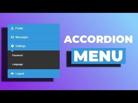 CSS Tutorial | 9 CSS Accordion Menus