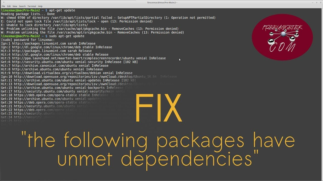 How to Install and Correct Dependencies Issues in Ubuntu