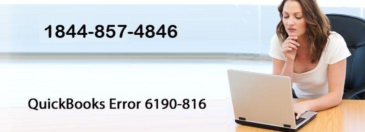 QuickBooks Error 6190-816- How to Fix 1800-941-3691