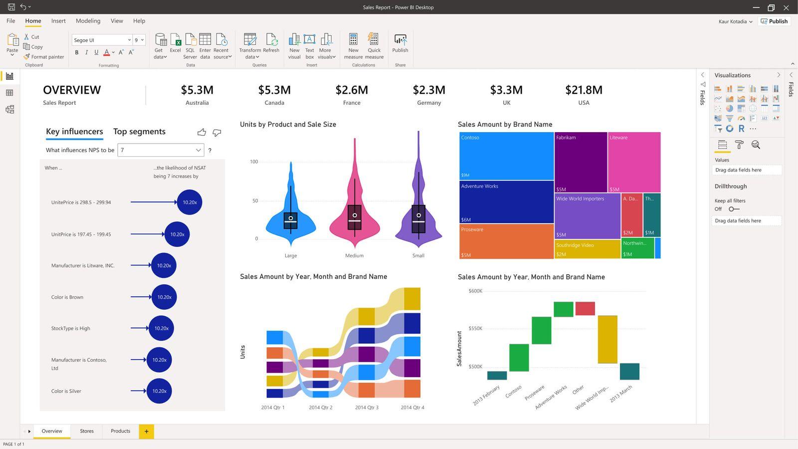 Data Visualization in Microsoft Power BI