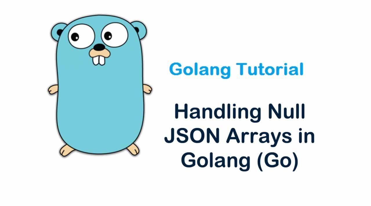 Handling Null JSON Arrays in Golang (Go)
