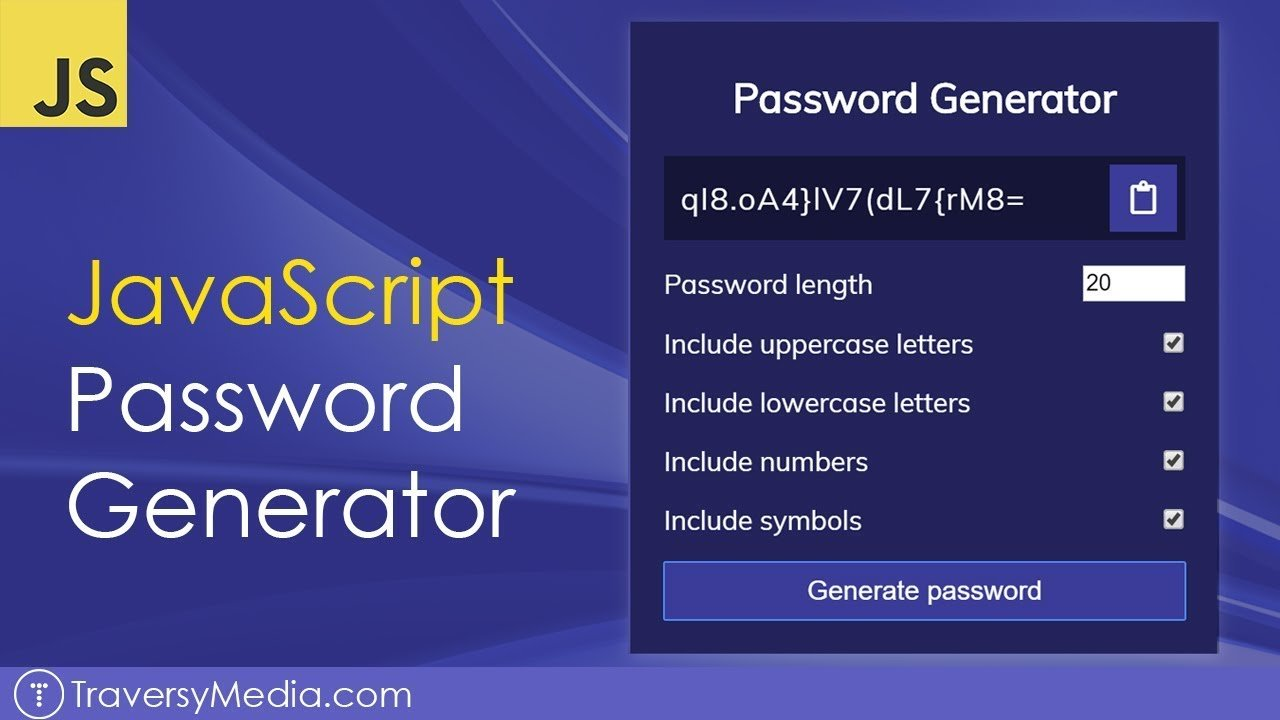 JavaScript Password Generator