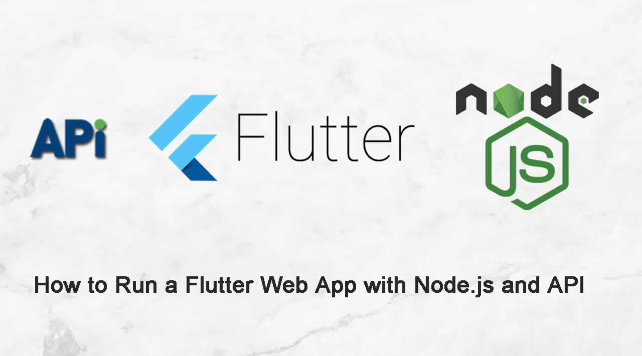 How to Run a Flutter Web App with Node.js and API