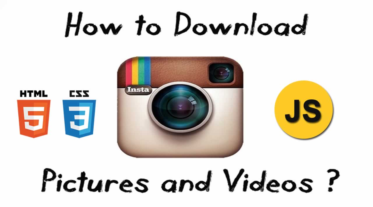 Download Instagram videos and photos using HTML, CSS and JavaScript