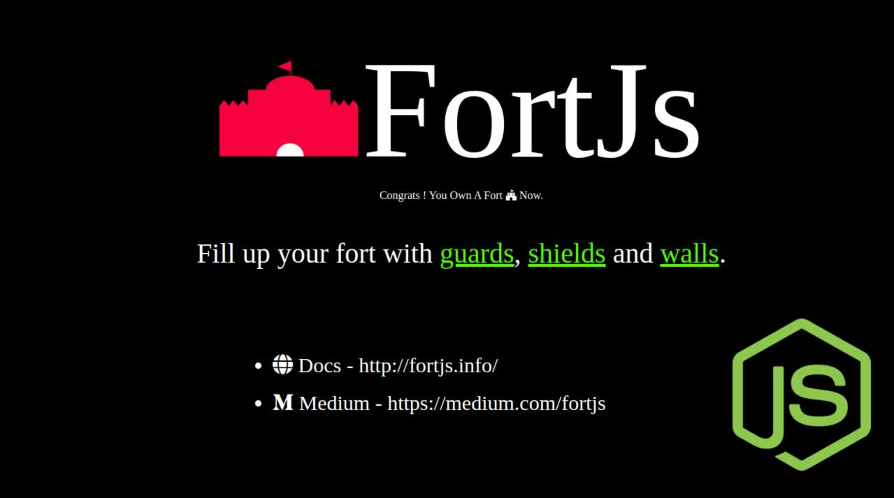 NodeJs Development with framework fortjs