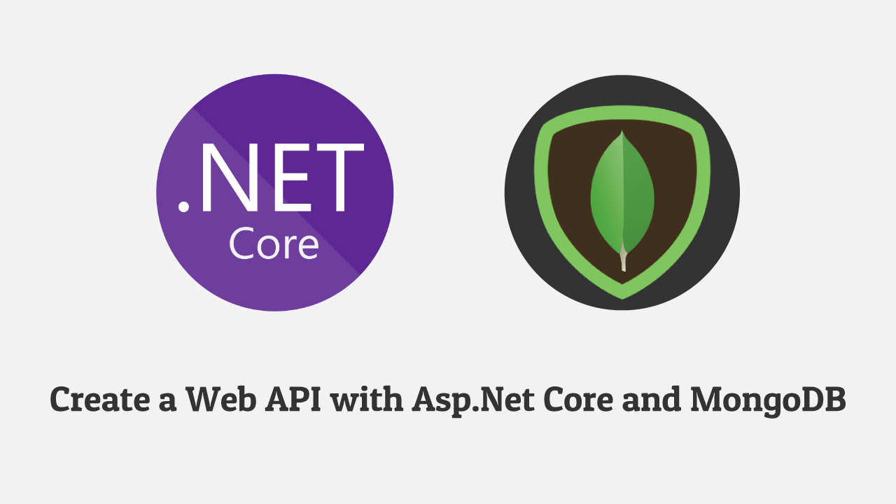 How to make Web API with ASP.NET Core 3.0 and MongoDB