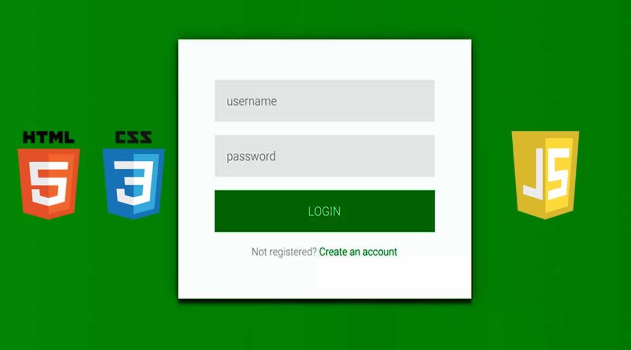 Material Login & Signup Form with CSS, HTML and JavaScript