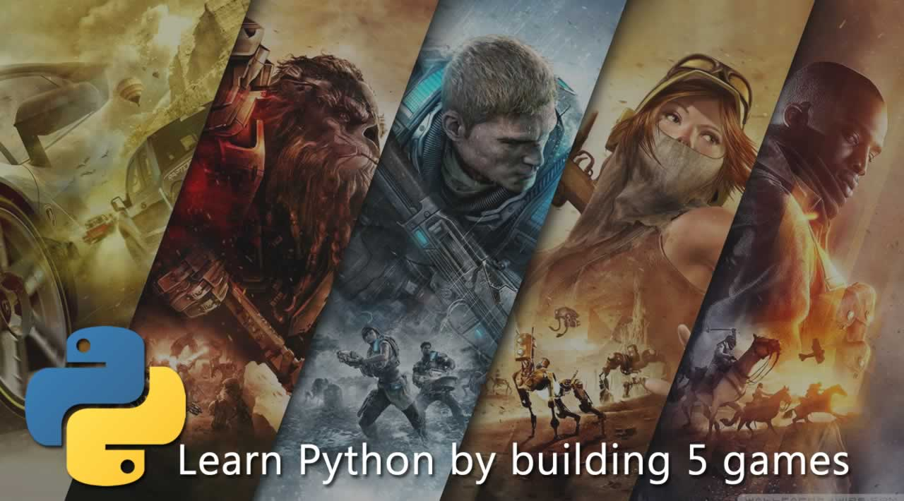 Learn Python for beginners by building five games