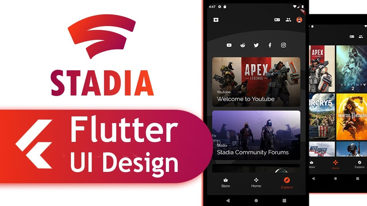 How to create Responsive Flutter UI like the Google Stadia App
