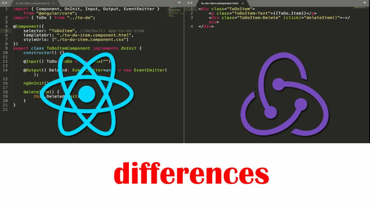 The differences React vs. Redux when created the exact same app