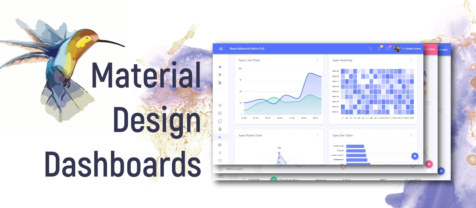 Top 6 Material Design Dashboards