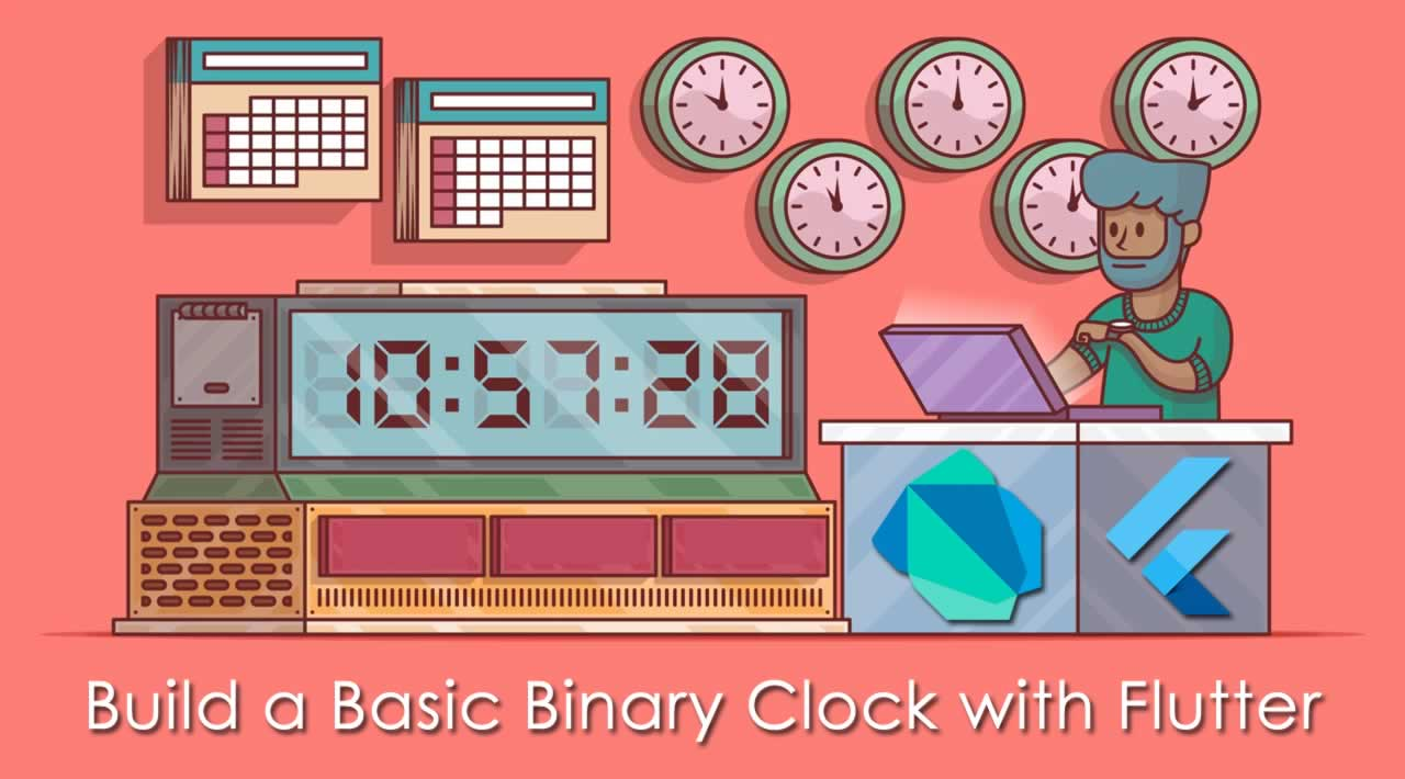 How to Build a Basic Binary Clock with Flutter?