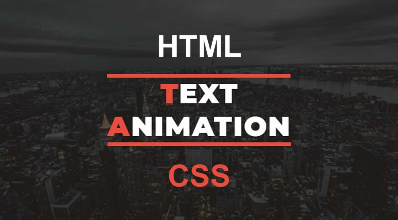 How To Create Animated Text And Web Design Using Html Css For Beginners