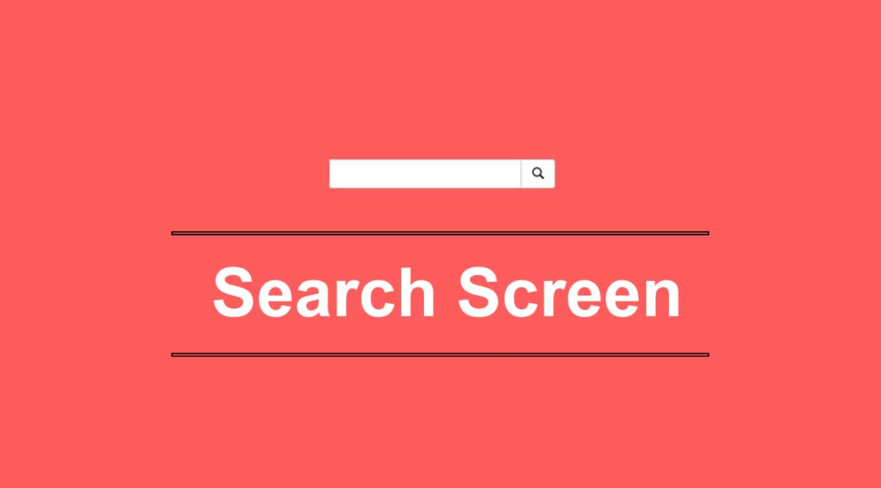 Build a search screen using HTML CSS & JQuery