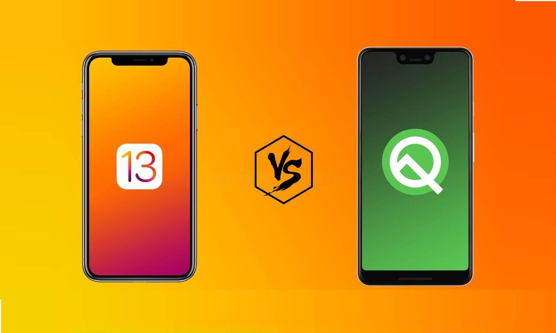 Android Q vs. iOS 13: