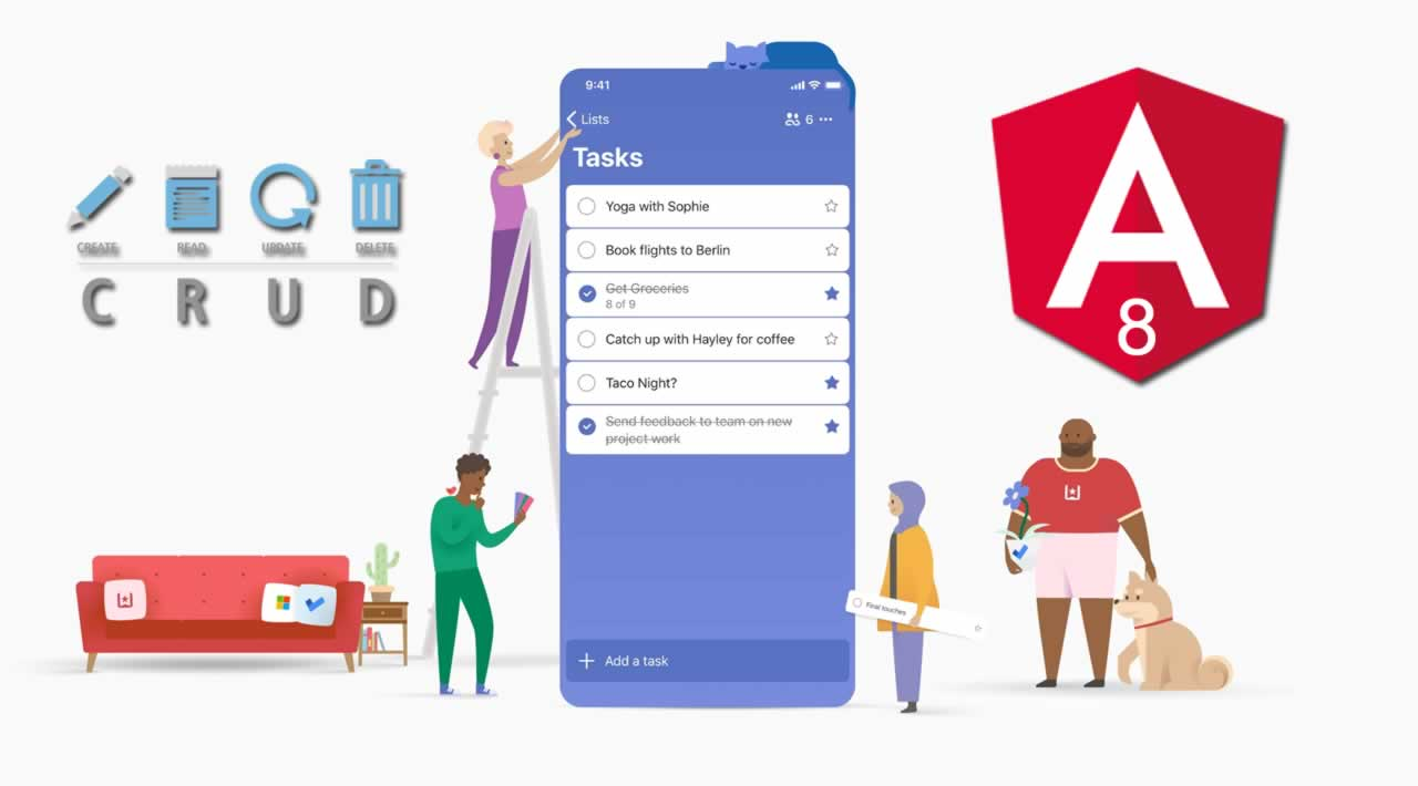 How to implement CRUD To-do Application in Angular 8?