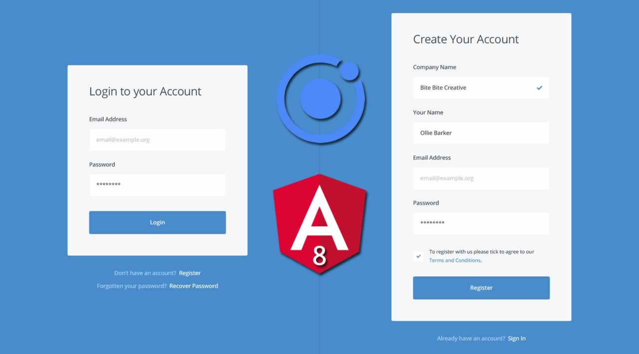 How to Create Login and Registration Form with Angular 8 using Ionic UI