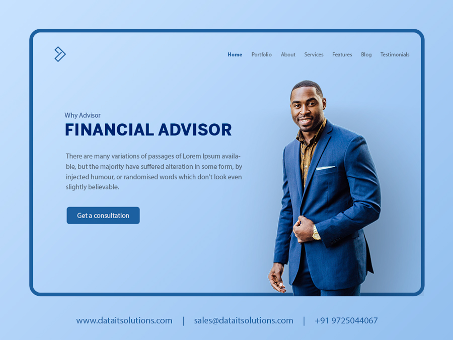 Financial Advisor Website Design