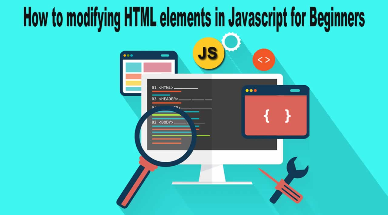 How to modifying HTML elements in Javascript for Beginners