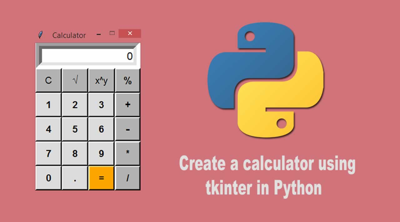 How to create a calculator using tkinter in Python