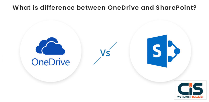 What is difference between OneDrive and SharePoint?