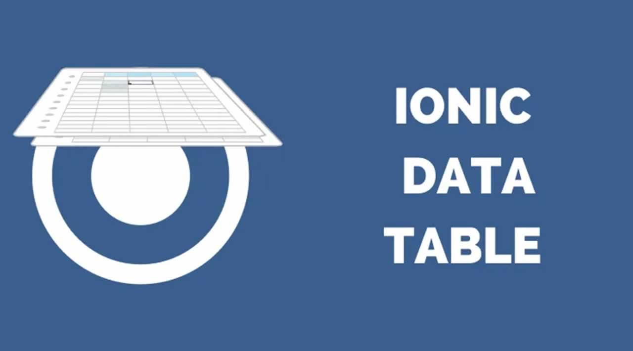 How to Use ngx-datatable Component to create Data Tables in Ionic 4