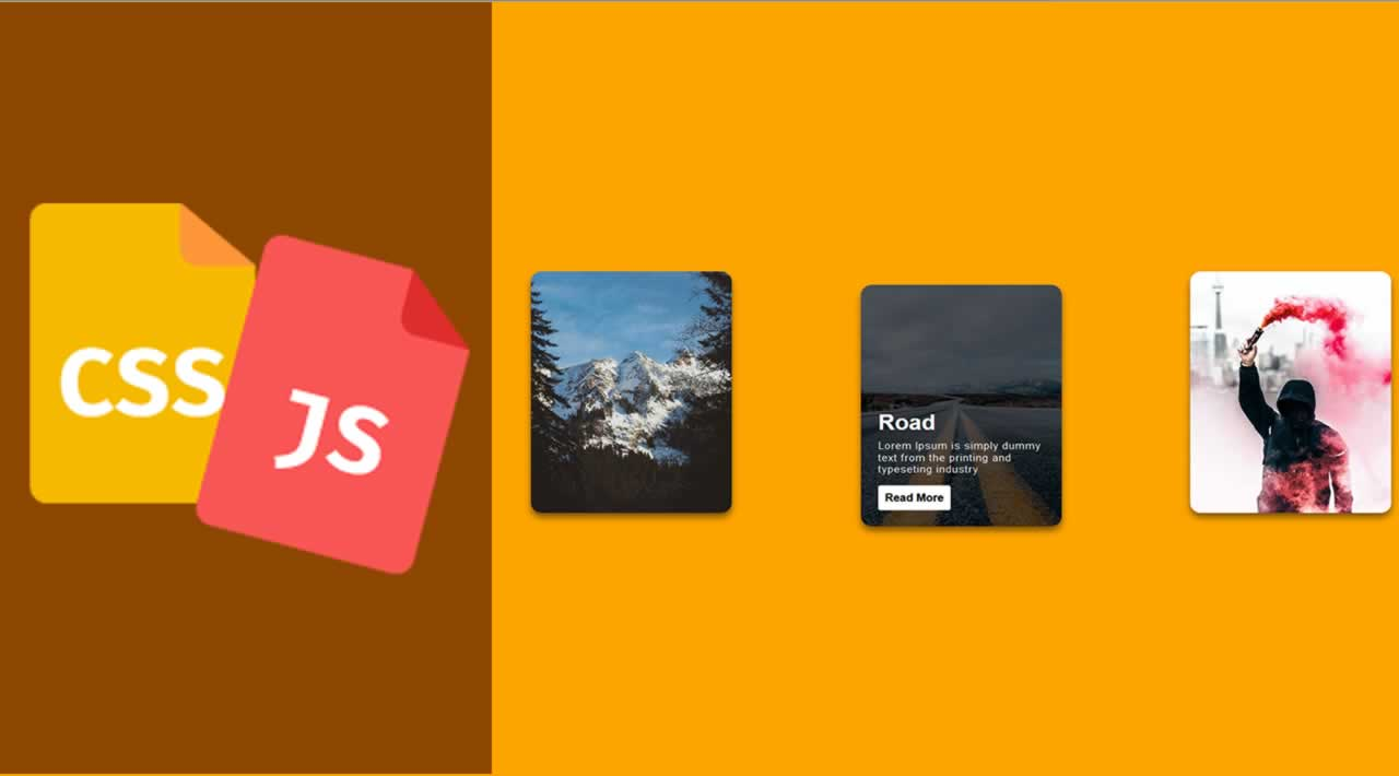 Stunning Css Card Hover Effect with JavaScript