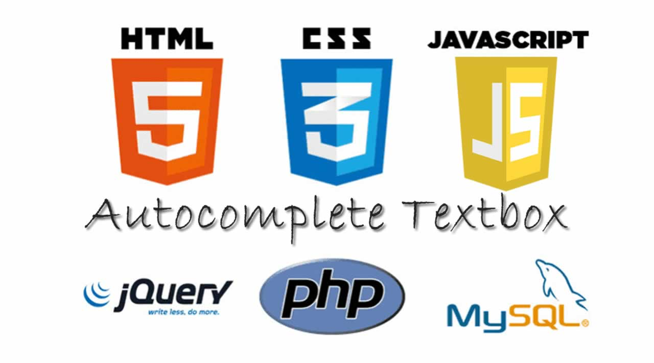 Autocomplete Textbox with Javascript, PHP and MySQL