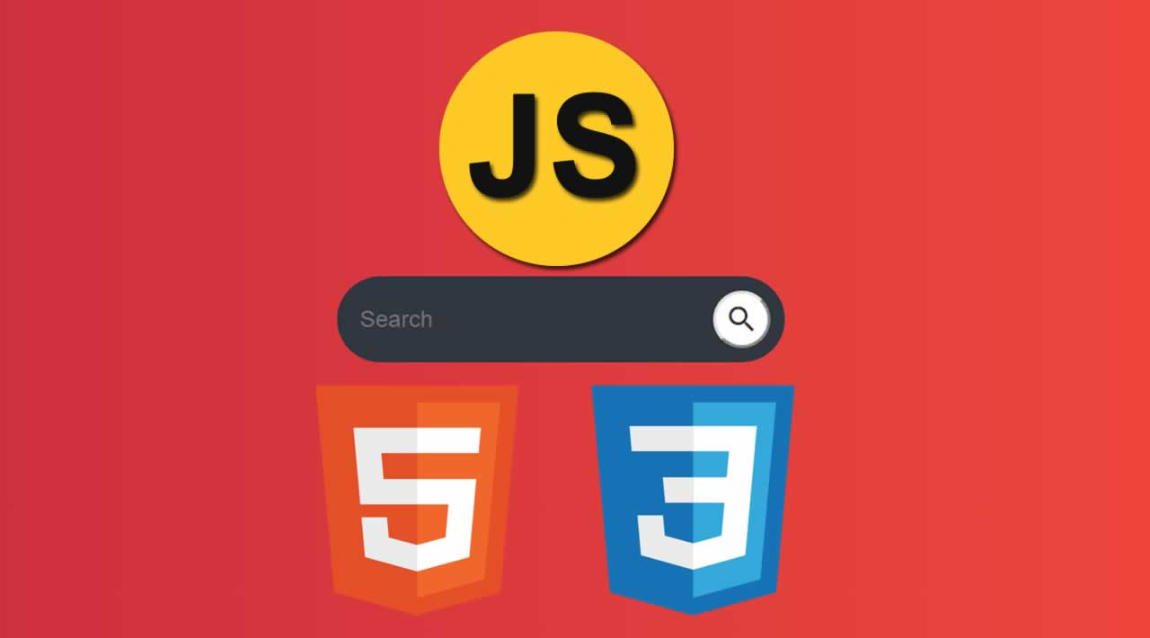 How to Create a Search Menu using HTML5, CSS3 & JavaScript