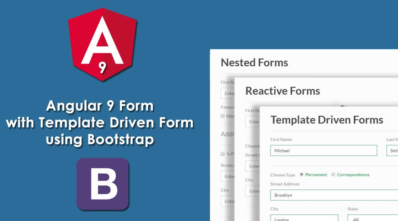 How to create Angular 9 Form with Template Driven Form using Bootstrap