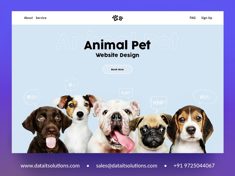 Animal & Pet Website Design