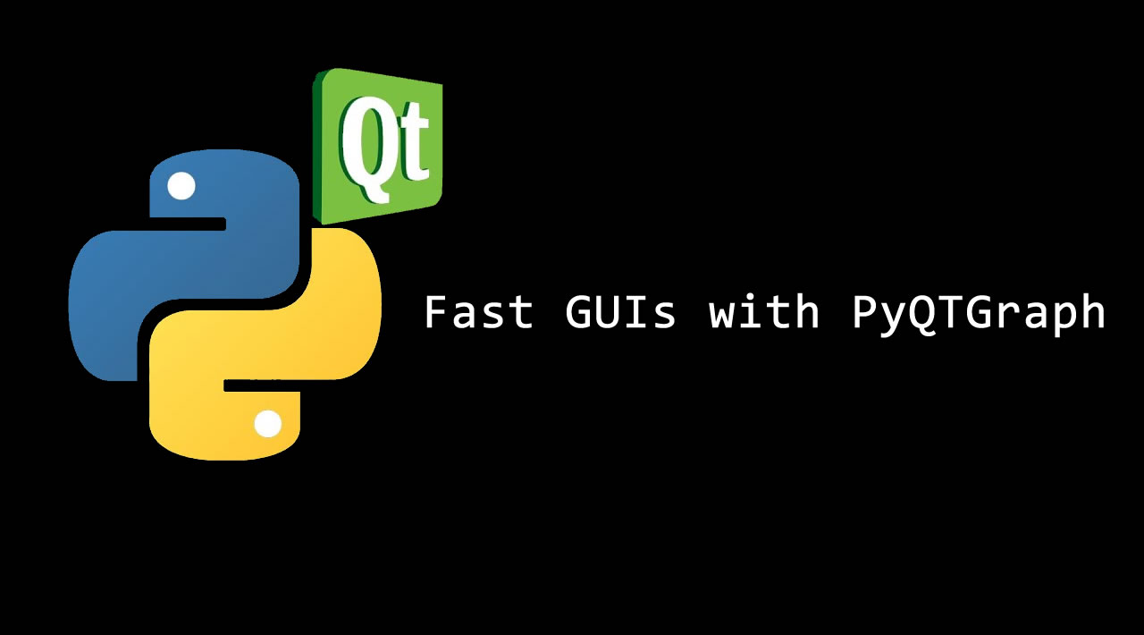 Fast GUIs with PyQTGraph