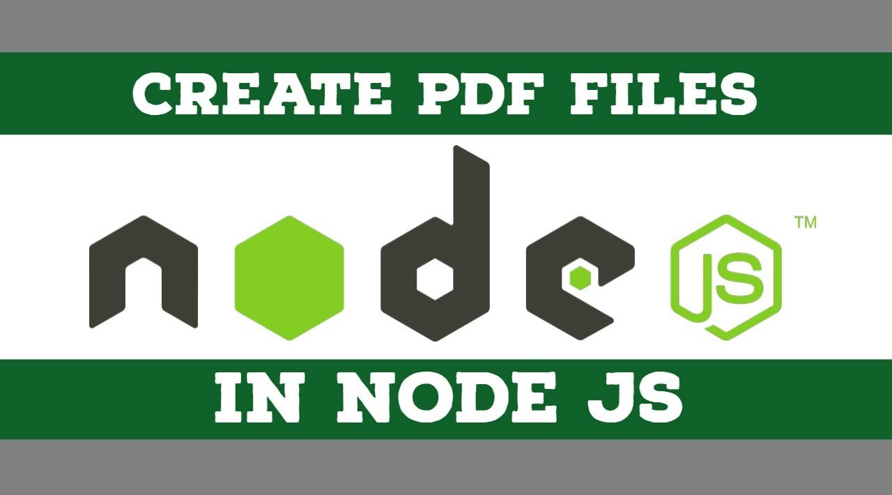 How to Create PDF Document in Node.js Application?
