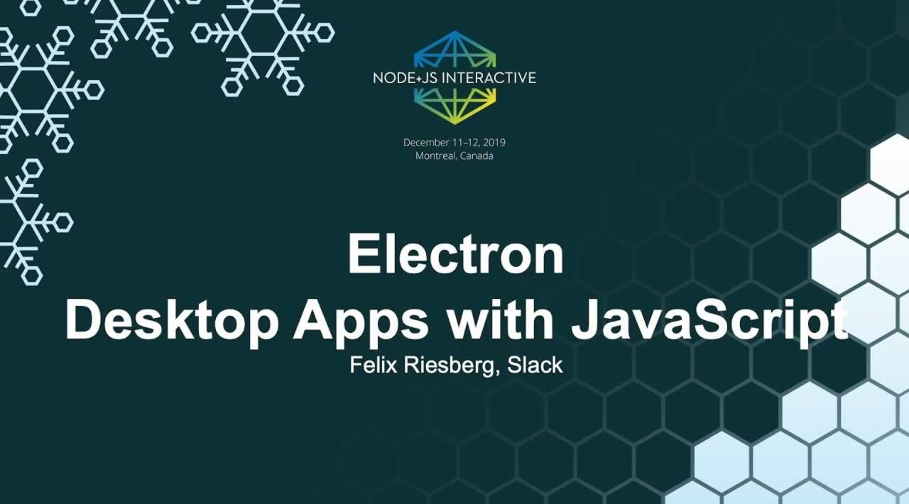 Electron Desktop Apps With JavaScript